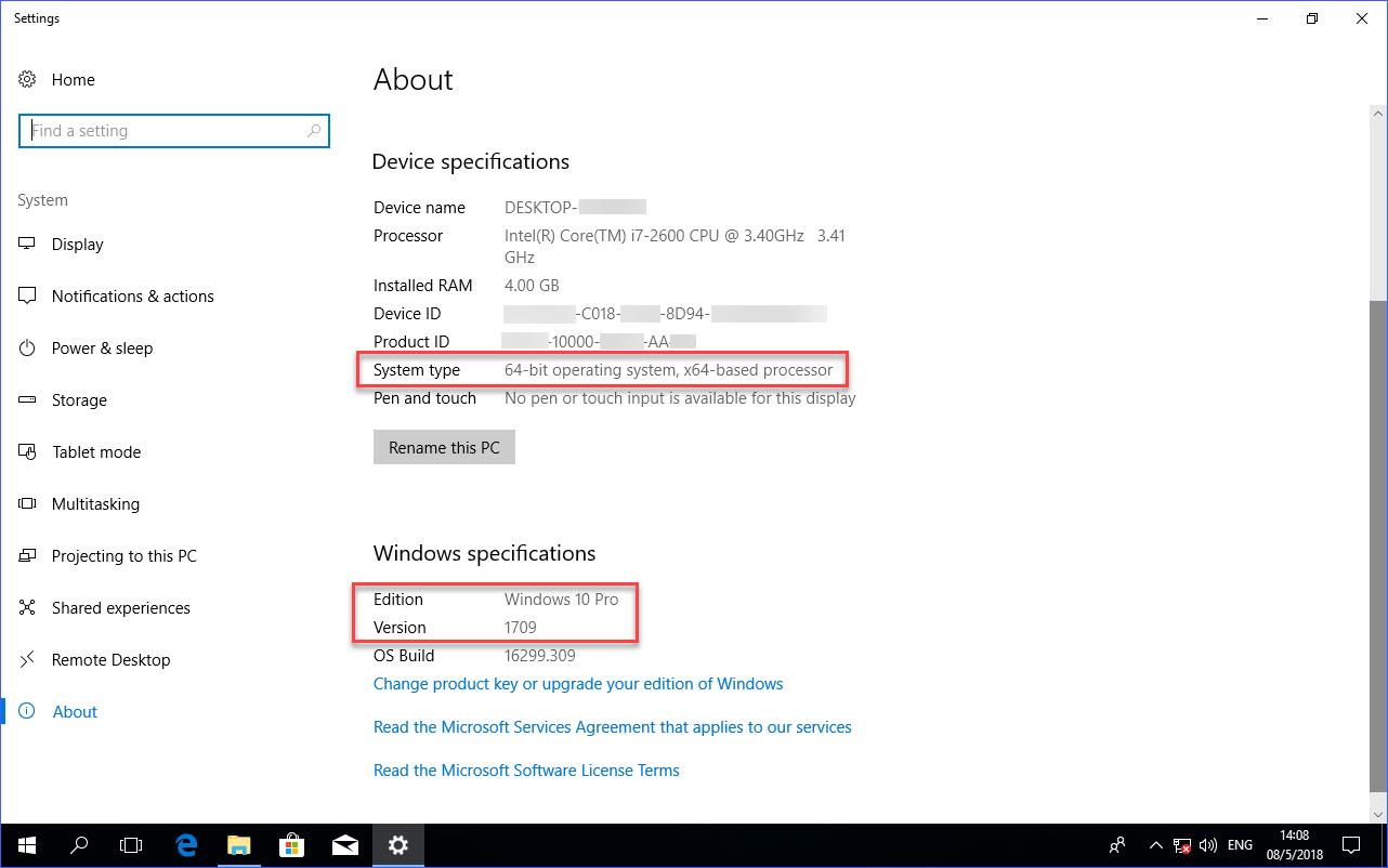 windows 10 1709 iso product key