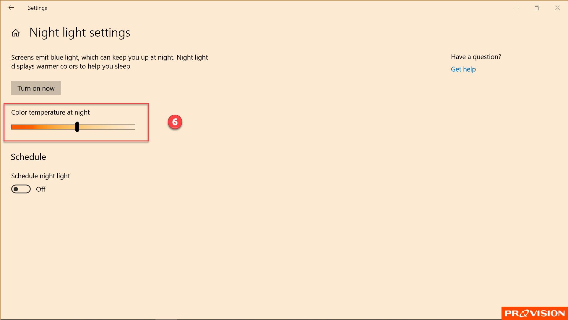 เปิดโหมด Night Light ช่วยถนอมสายตาเวลาใช้คอมฯ ตอนกลางคืน