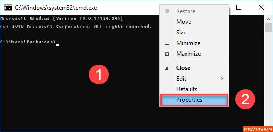 ฟอนต์ใน Command Prompt และ Windows PowerShell ดูแปลกไป เปลี่ยนก็ไม่ได้ ทำไงดี?