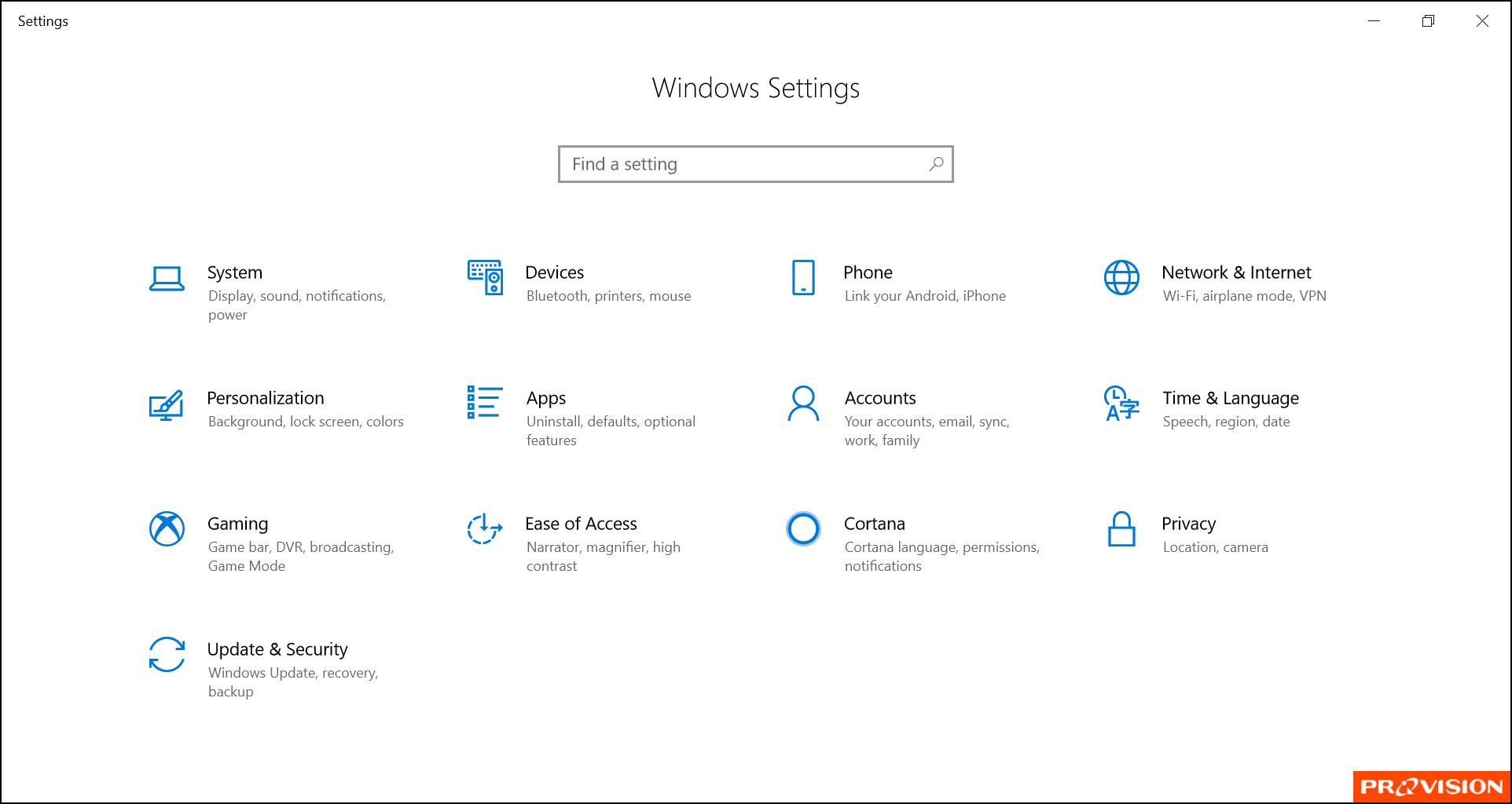หน้าต่าง Control Panel อยู่ไหน? ใน Windows 10
